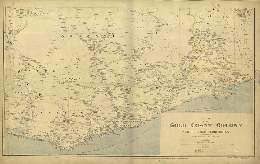Map of the Gold Coast Colony and neighbouring territories
